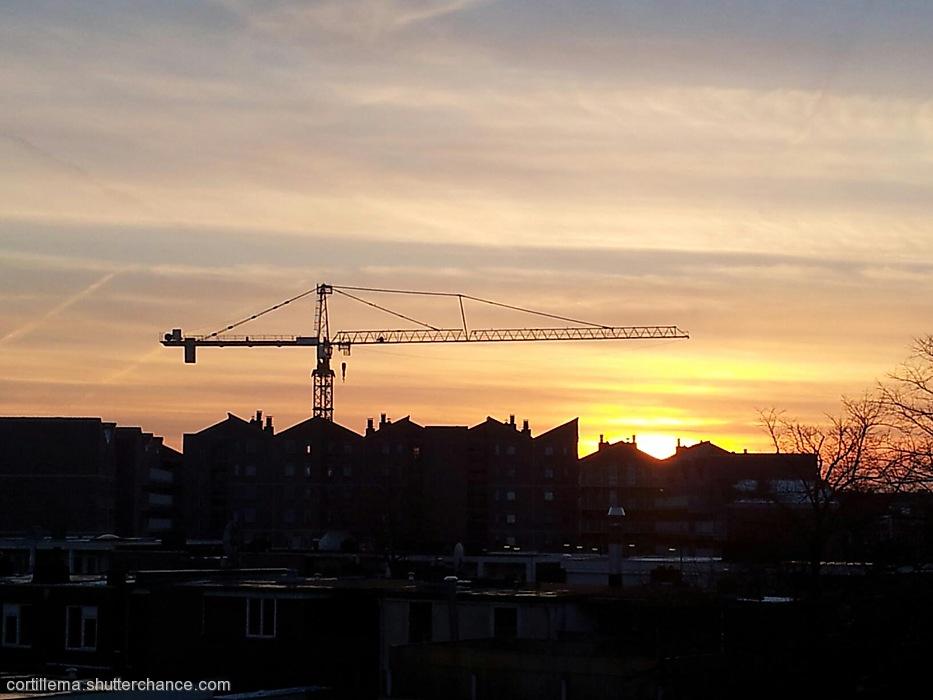 photoblog image Ondergaande zon, Emmen, The Netherlands